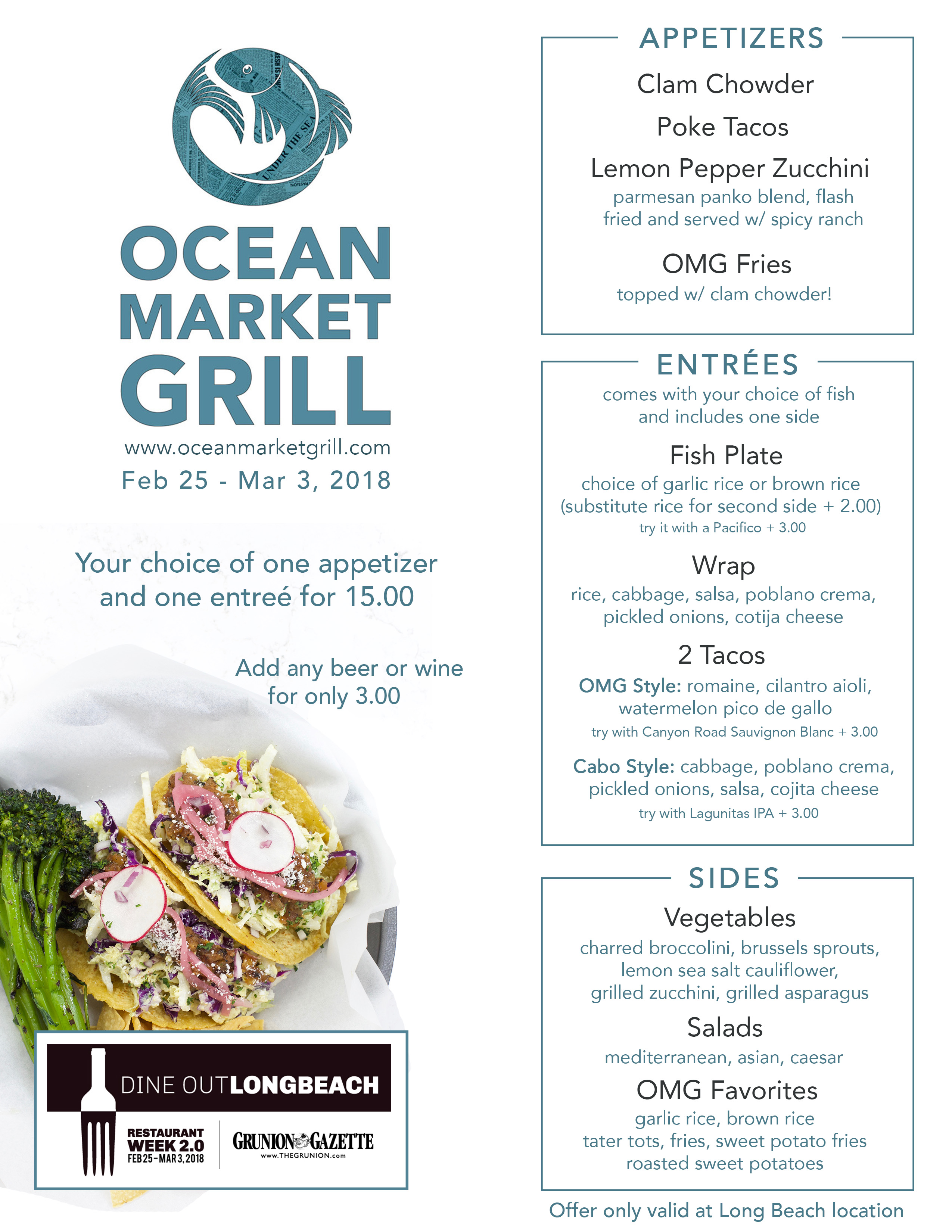 All Locations — Dine Out Long Beach, Restaurant Week 2.0